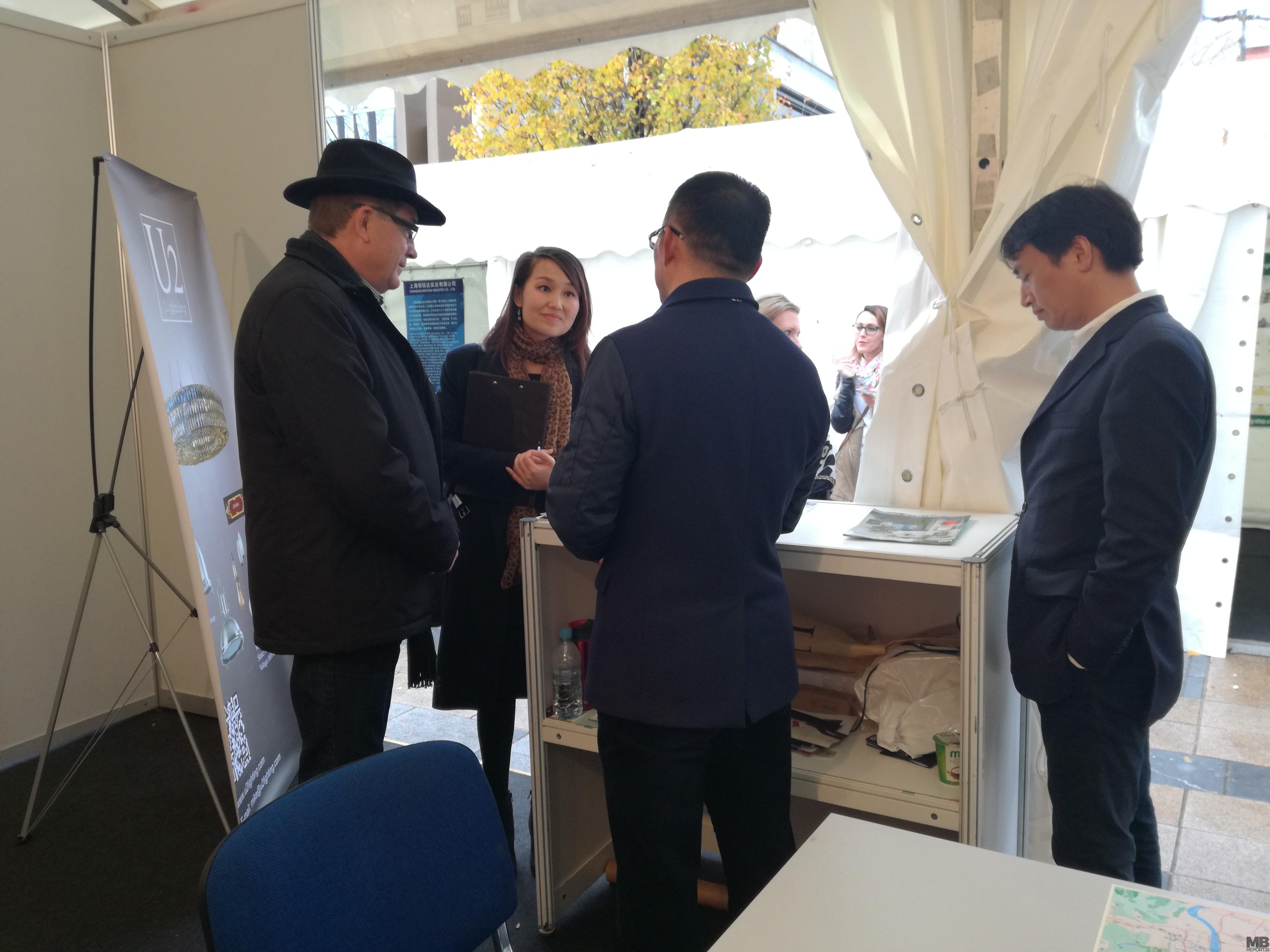 Župan Andrej Fištravec na pogovorih s kitajskimi podjetniki.