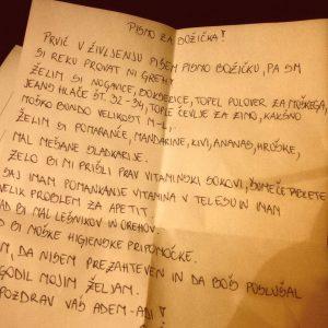 skriti bozicek brezdomcu pismo