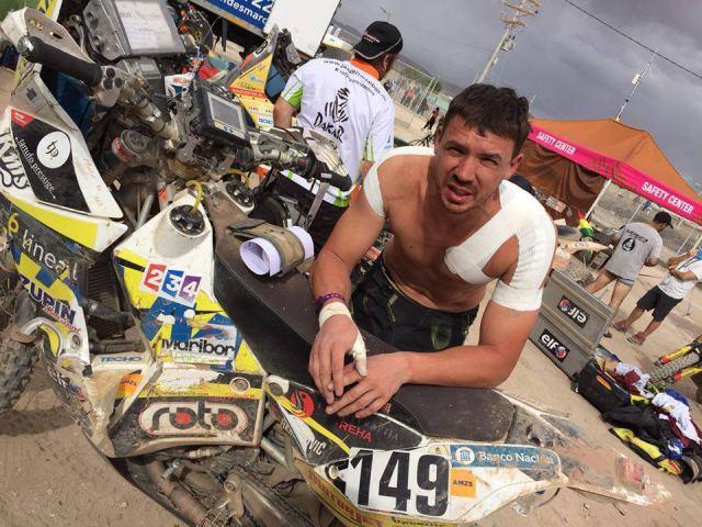 Simon Marčič na Dakarju 2016; FOTO: S. Marčič