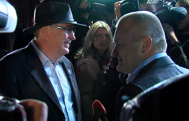 Andrej Fištravec in Franc Kangler; FOTO: arhiv lokalec.si