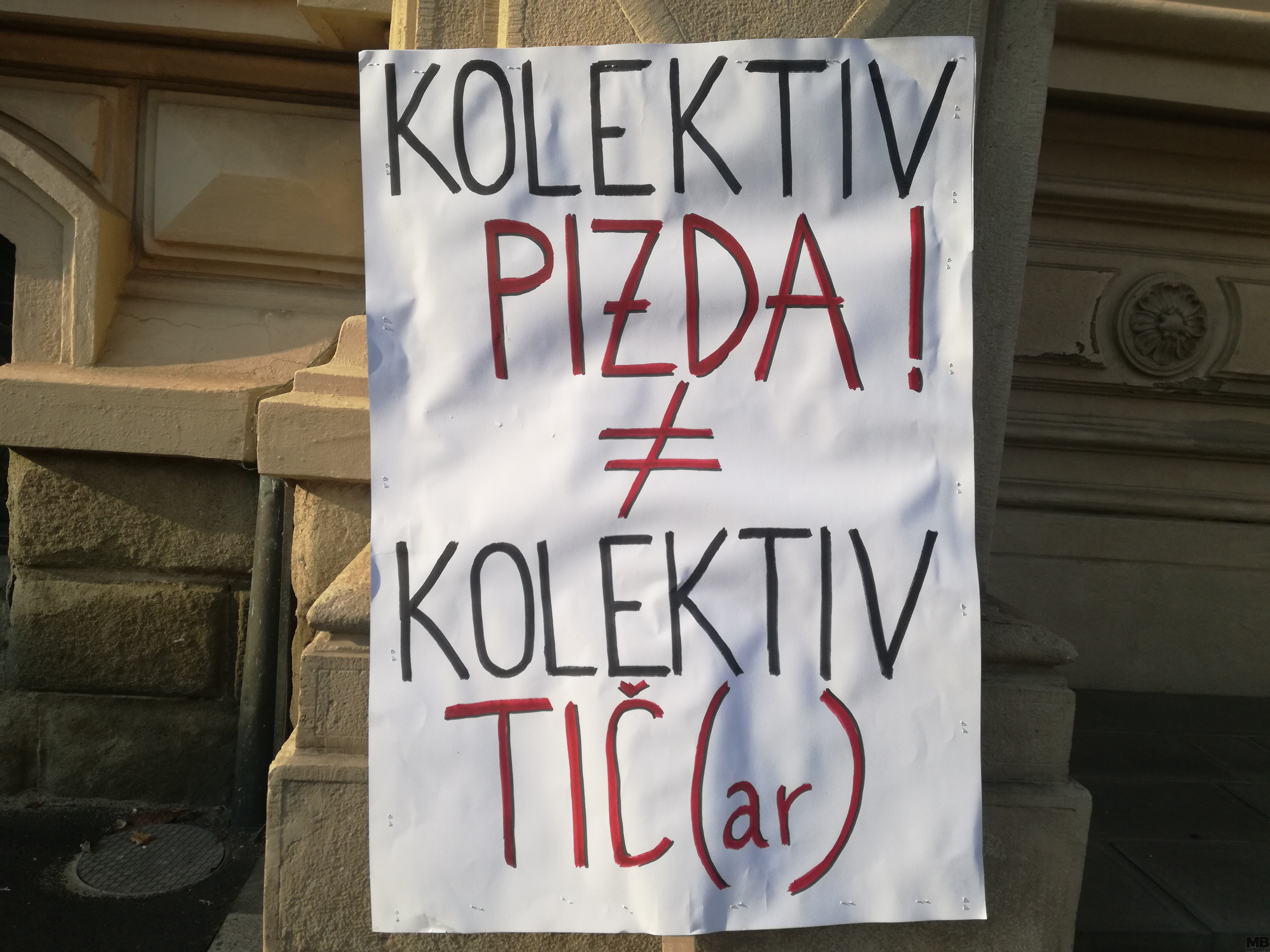 protest pred rektoratom um
