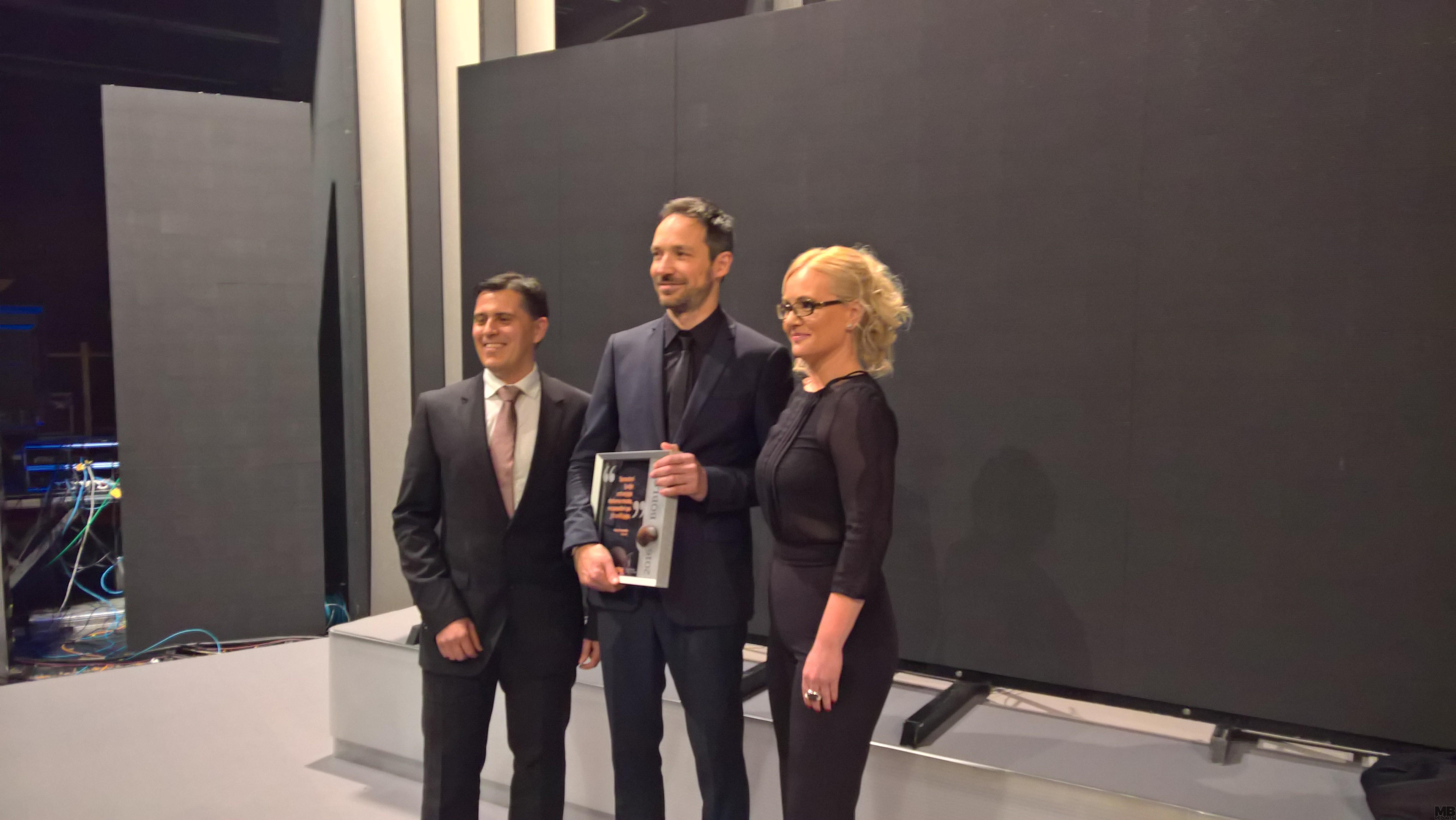 Katja Šeruga, odgovorna urednika Večera; Hasim Franjo Naji, zdravnik; Sašo Todorovič, direktor Večera