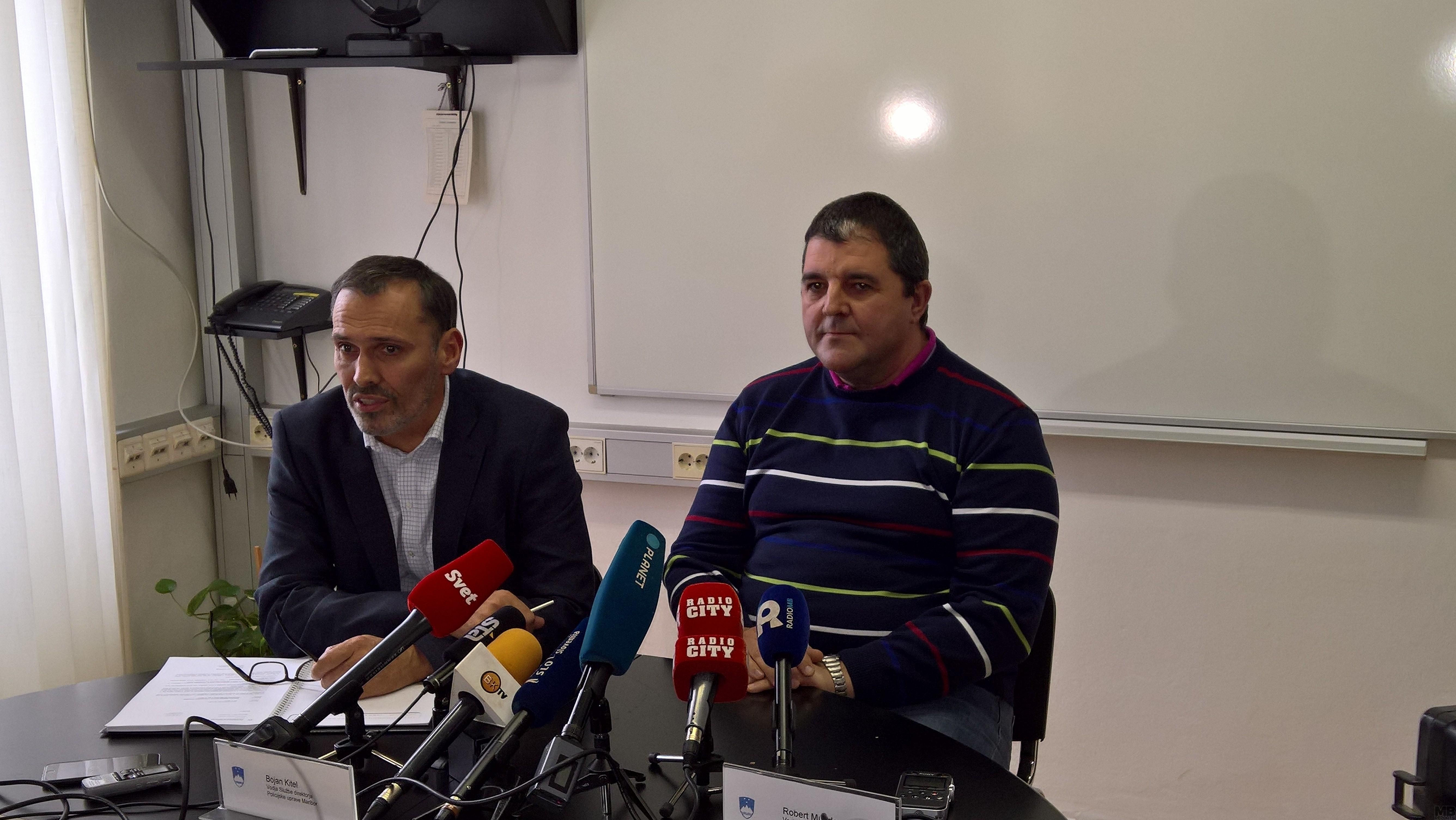 Bojan Kitel, PU Maribor in Robert Munda, vodja kriminalistov PU Maribor