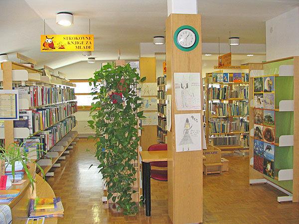 knjižnica znotraj