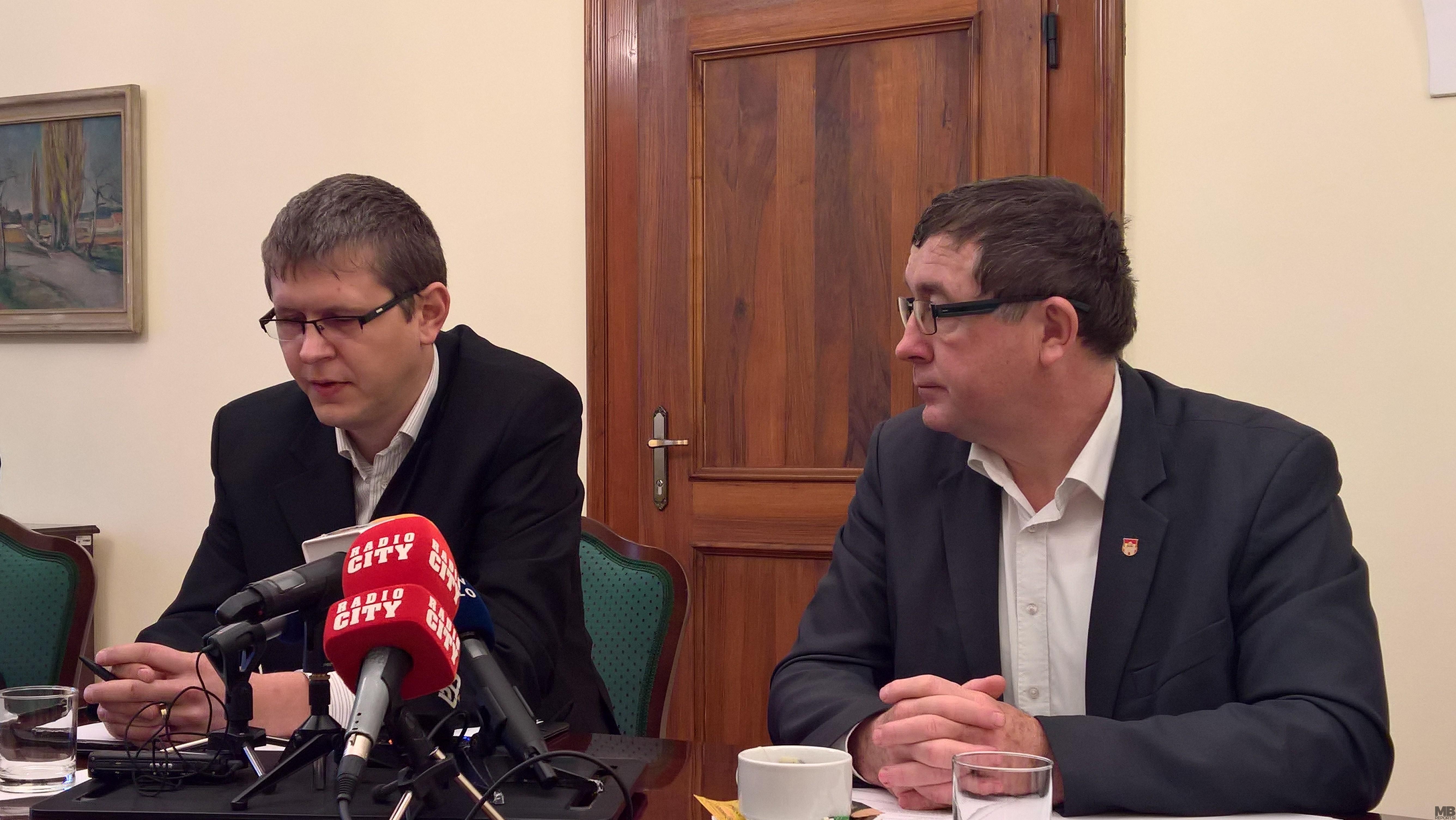 Simon Štrancar, direktor MU MO Maribor in Andrej Fištravec, župan MO Maribor