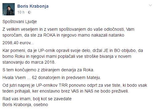 Vir: Facebook Boris Krabonja