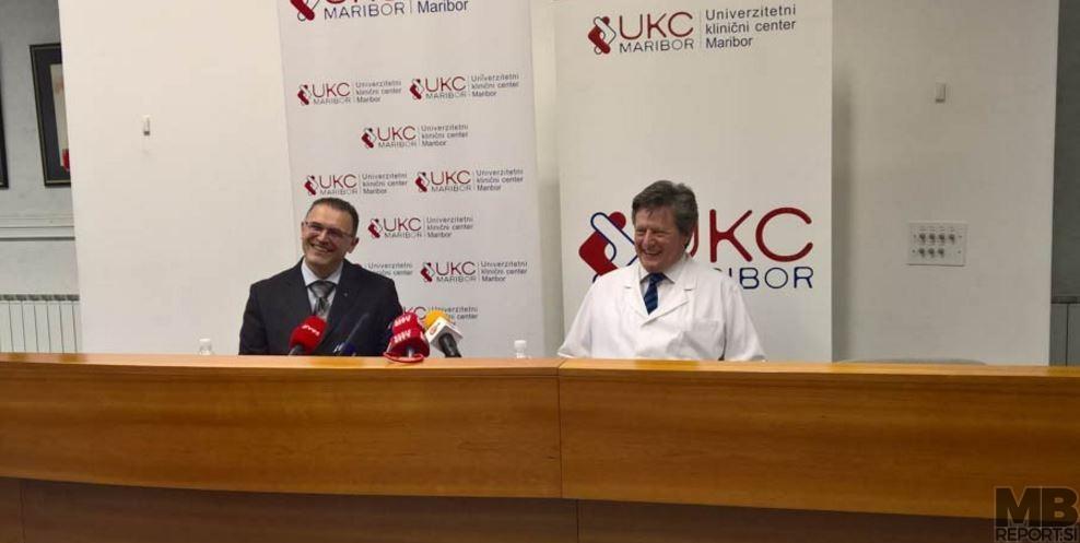 Janez Lavre (direktor UKC Maribor) in Gregor Pivec (nekdanji direktor UKC Maribor).