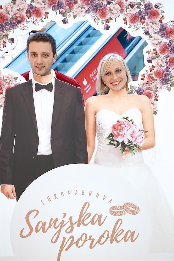 Srečna zmagovalca Europarkove sanjske poroke sta Boris Grubar in Tadeja Ornik.